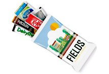 Snack Pack Tea Coffee Milk Sugar Kit Kat Digital Print Flow Bag