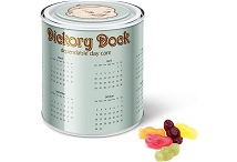 Branded Tins of Sweets Calendar Tin with Jelly Babies