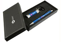 Crosby McQueen Soft Touch Pen & Torch Gift Set