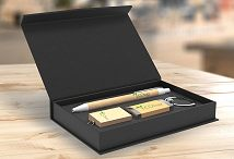 Eco Wood Pen, USB Stick & Keyring Gift Set