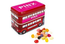 Jelly Bean Bus Tin Promotional Item