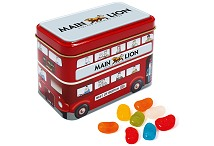 Printed Bus Sweet Tin with Jelly Beans