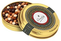 Promotional Chocolate Pearls Gold Caviar Tin