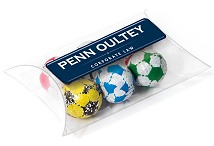 Chocolates Foil Wrapped Footballs Large Pouch