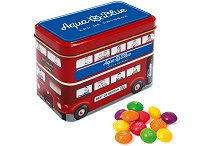Promotional Tinned Sweets Bus Tin of Skittles