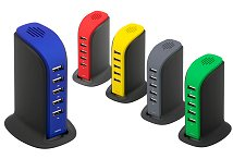 Promotional USB Charger Desk Top 5 Way