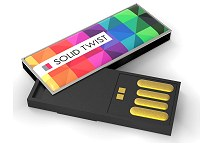Solid Twist USB Stick Logo Printed