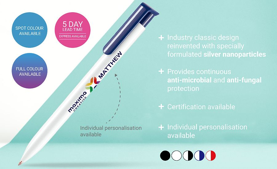 Anti-microbial Branded Pen details