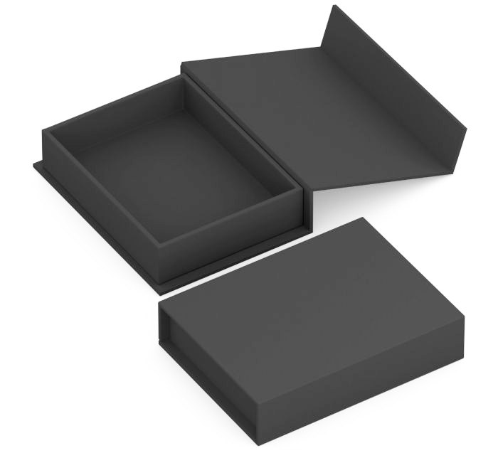 Iron Care black flip top presentation box