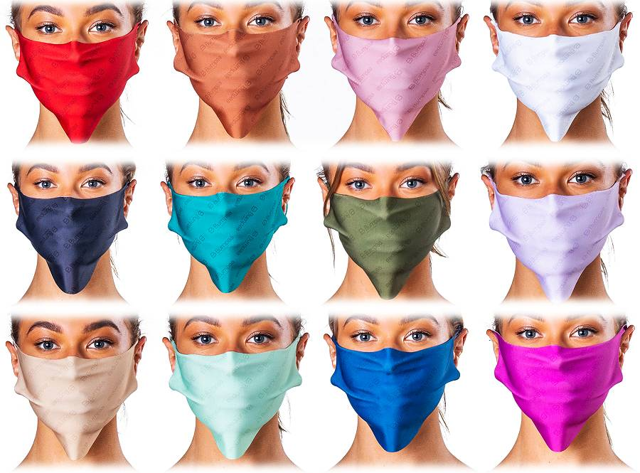 Antiviral face mask colour range