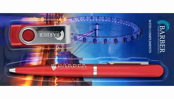 Ball Pen & Twister USB Stick Corporate Gift