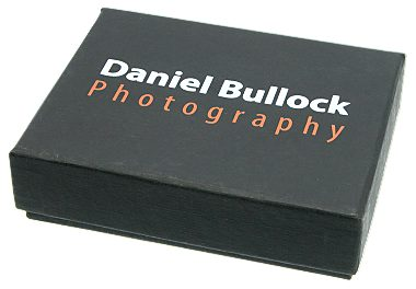 Black Cardboard Presentation Box closed printed lid