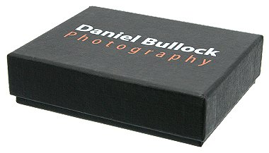 Black Cardboard Presentation Box with closed printed lid