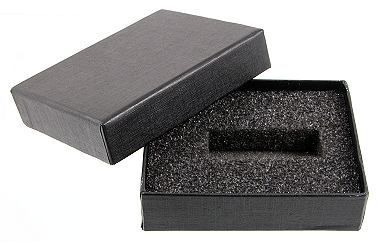 Black Cardboard Presentation Box Empty