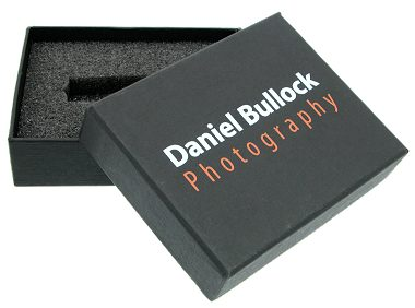 Black Cardboard Presentation Box open printed lid
