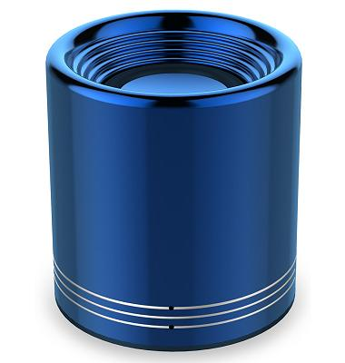 Blue metal wireless speaker