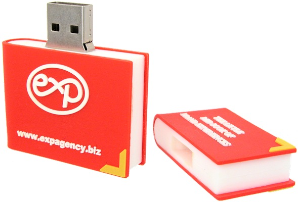 Book shaped USB stick open