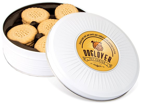 Logo Printed Tins of Shortbread Biscuits - Sunray Share Tin