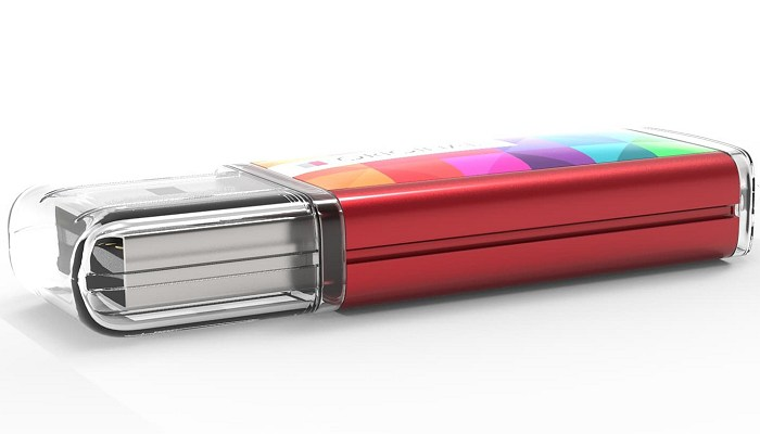 Branded USB drives edge view