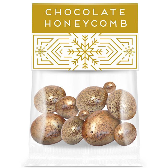 Chocolate Coated Honeycomb with an Eco Custom Printed Info Card