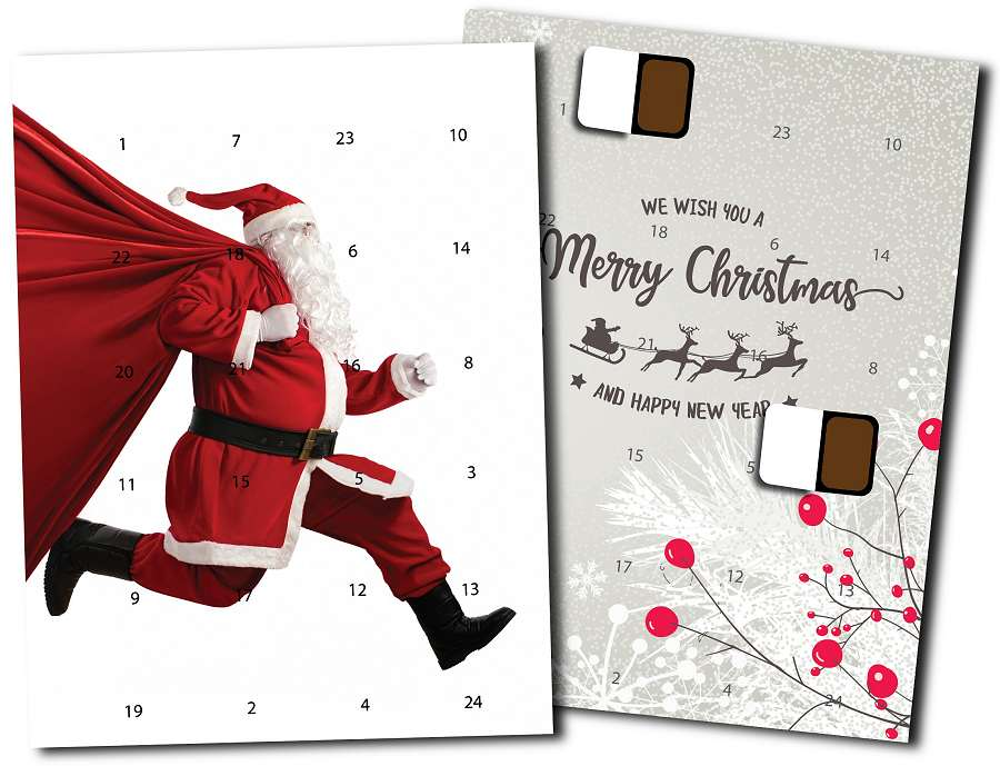 Corporate Advent Calendar with Chocolates Wall Mounted