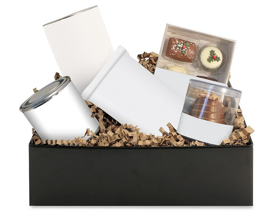 Corporate Gift Chocolate Hamper Mid Size before branding