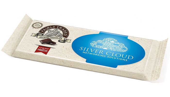 Custom Chocolate Bars Flow Wrapped Paper Label