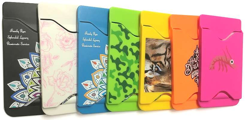 Custom Logo Smartphone Card Holder selection of colours