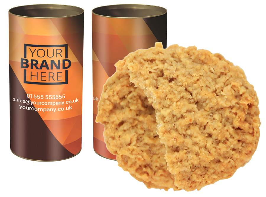 Custom Tubes of Honey Oat Biscuits