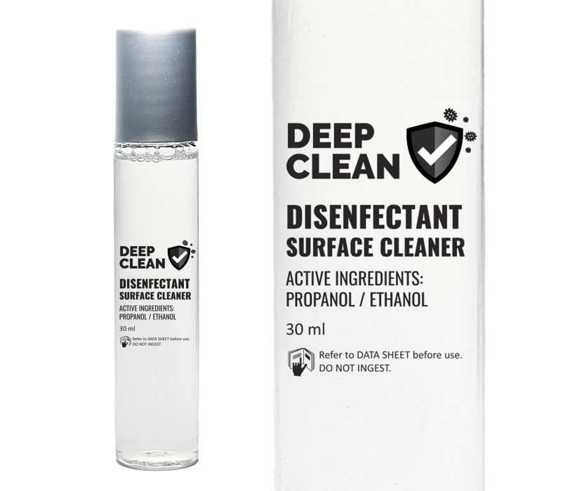 Deep clean disinfectant surface cleaner with propanol and ethanol active incredients
