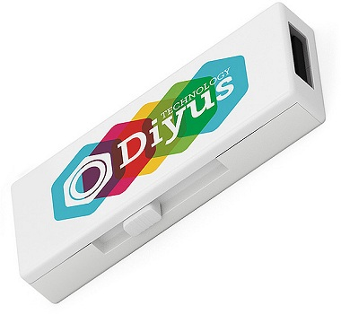 Dual Port Promotional USB Stick with four colour printed logo