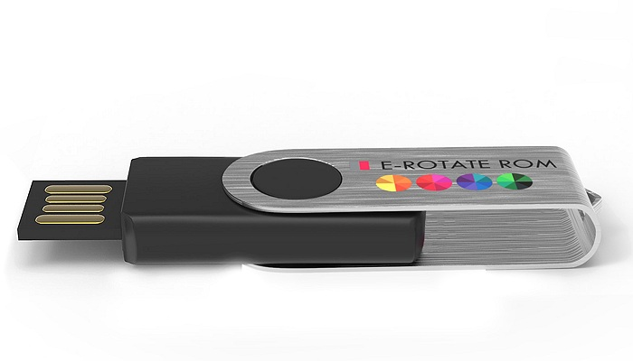 e-Rotate Read Only Printed Twister USB Stick edge view