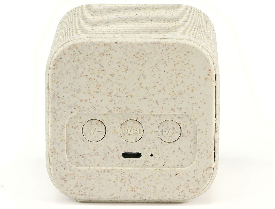 Controls on the rear of the eco friendly bluetooth speaker