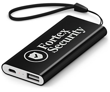 Black Emergency Battery Phone Charger