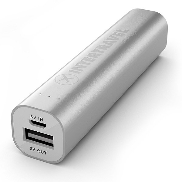 Engraved Power Bank Tube Deluxe Silver