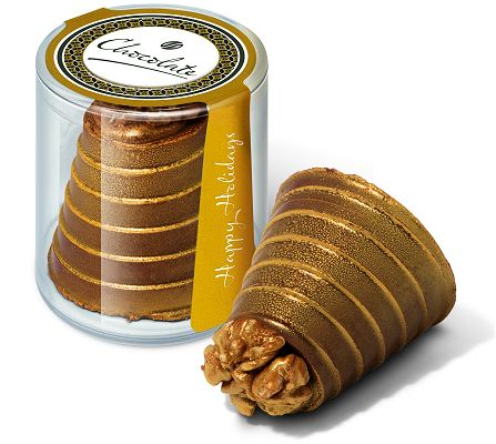 Gold Walnut Whirl Chocolate Promotional Gift