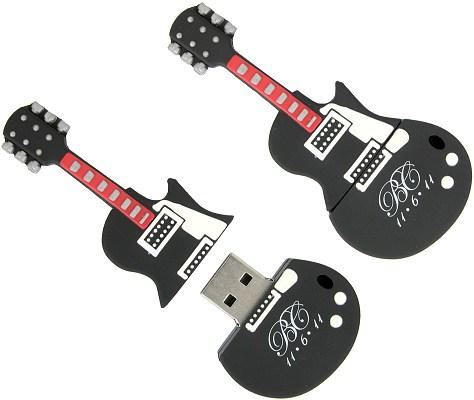 guitar shaped usb stick custom as a branded promotional gift. Black Bedroom Furniture Sets. Home Design Ideas