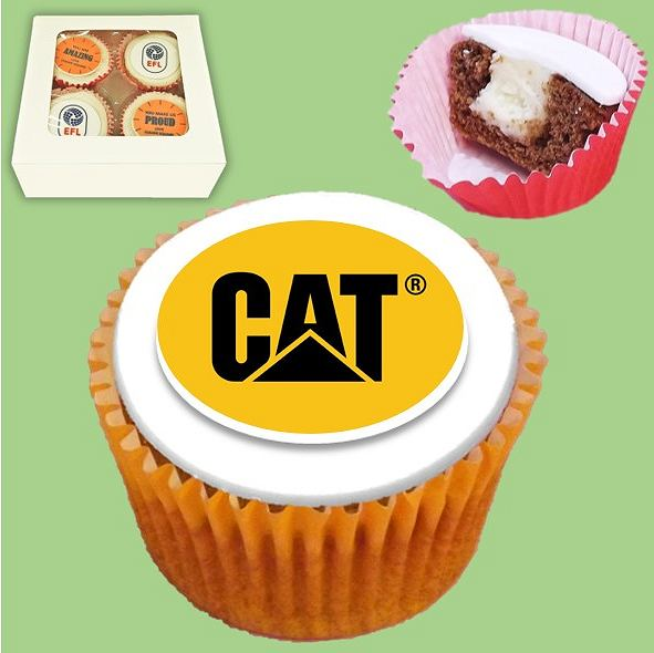 Home Worker Cupcakes with CAT logo