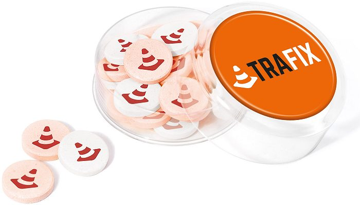 Icons Maxi Round Logo Printed Sweets promoting merchandise