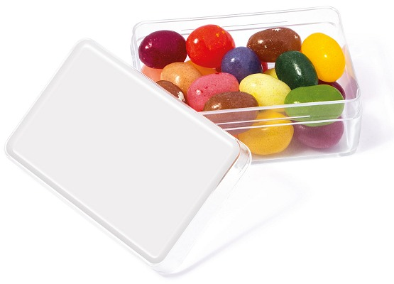 Jelly Bean in a Midi Rectangle with blank lid for logo customisation