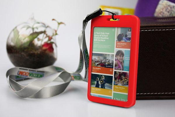 Lanyard Power Bank with red body