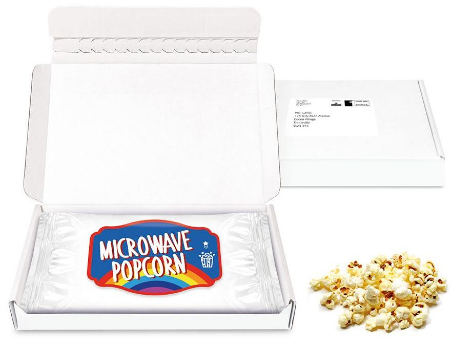 Letterbox Sweet Treats Microwave Popcorn Paper Label