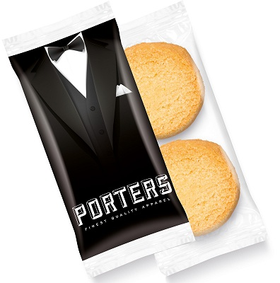 Logo Biscuits 2 Mini Shortbread Digital Print Flow Bag