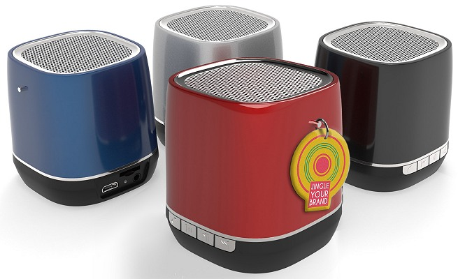 Logo Bluetooth Speakers with your Jingle for Audio Branding