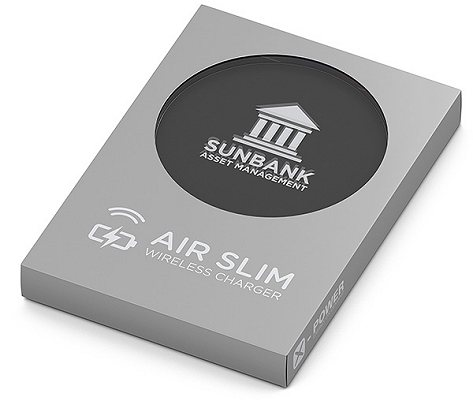 Logo Branded QI Wireless Charging Pad in a presentation box