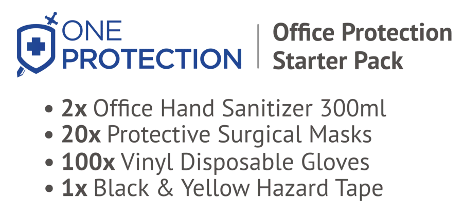 Item List for the office protection PPE essentials pack