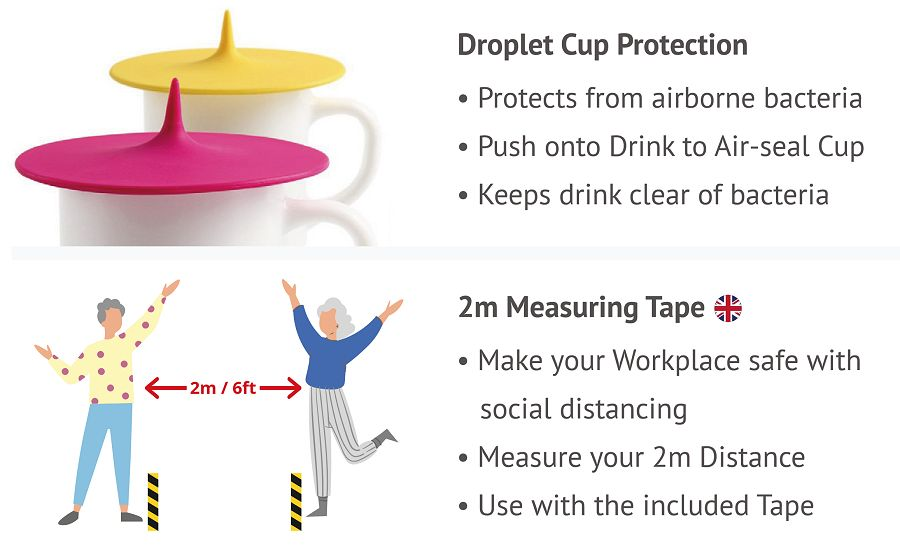 Items in the office protection PPE Premium pack