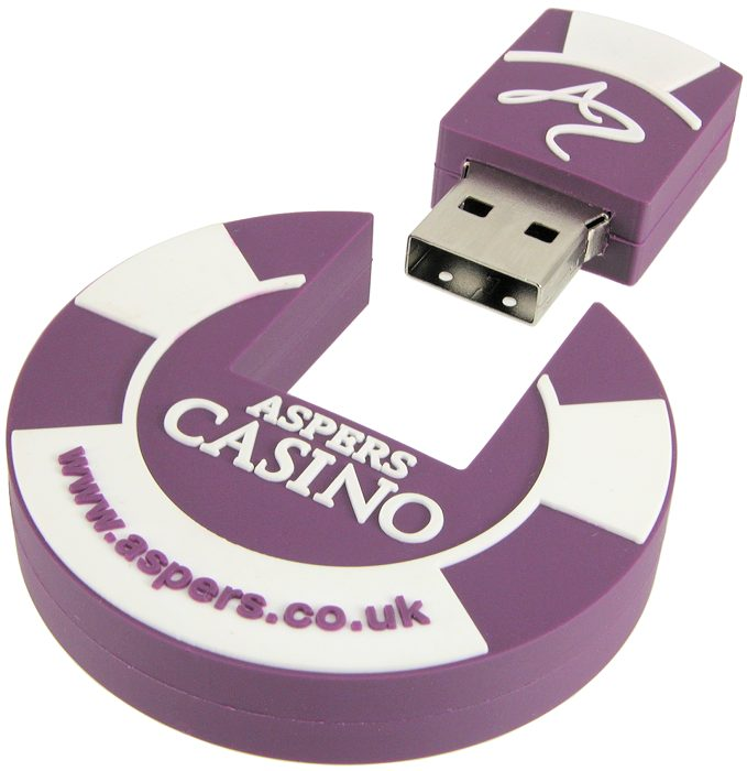 Poker chip USB stick with USB removed