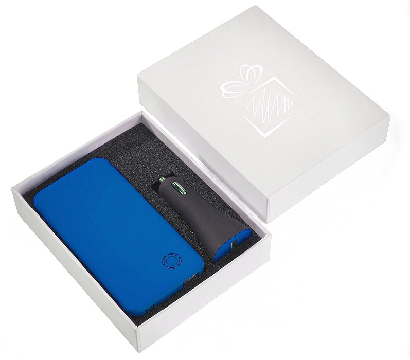 Power Bank & Car USB Charger Branded Gift Set