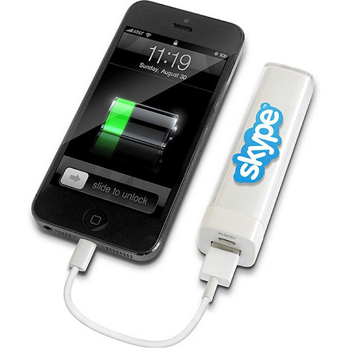 Listick Power Bank charging an iPhone